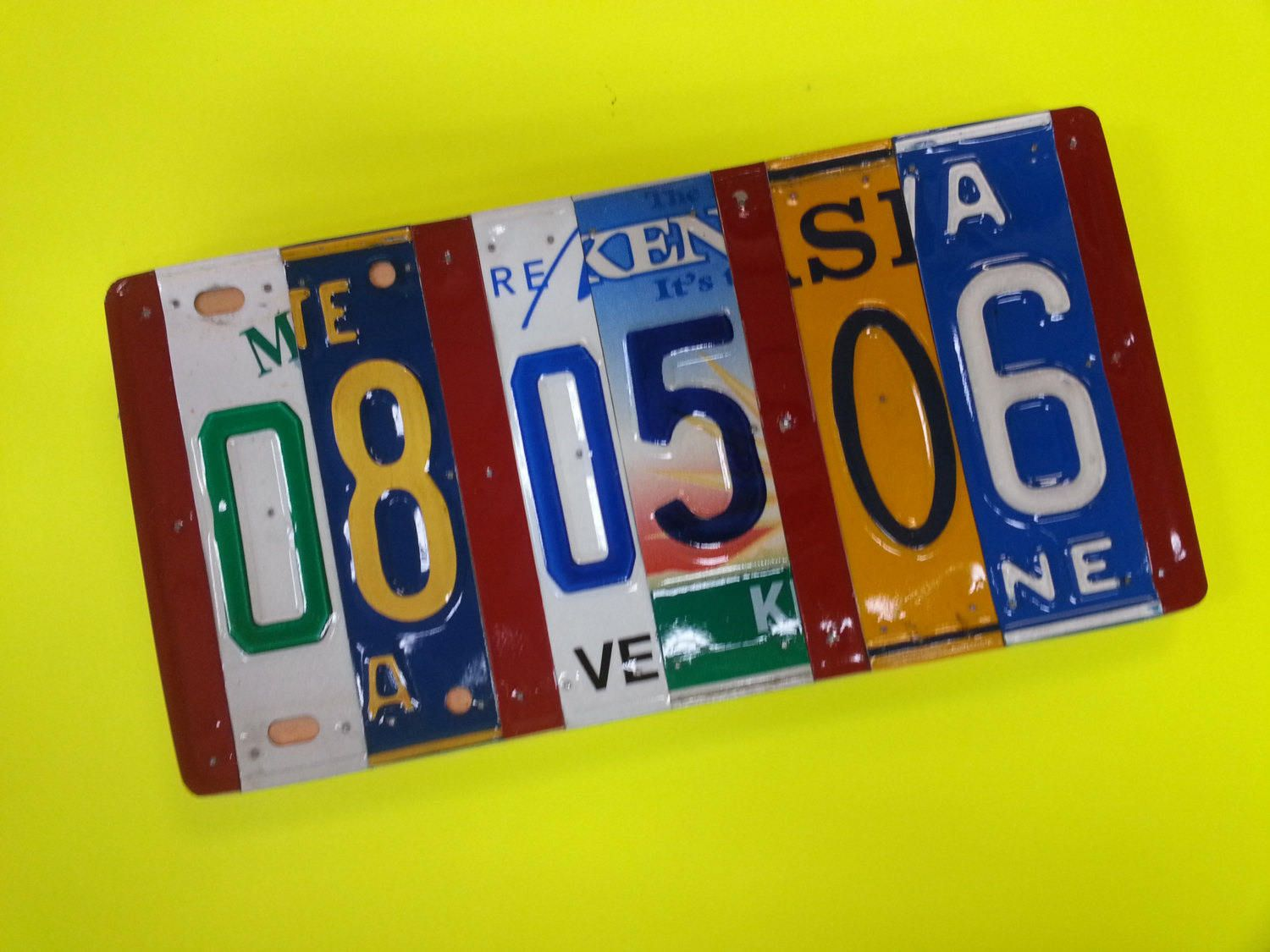 10 Year Anniversary Gift Pick The States License Plate Sign 10 Year