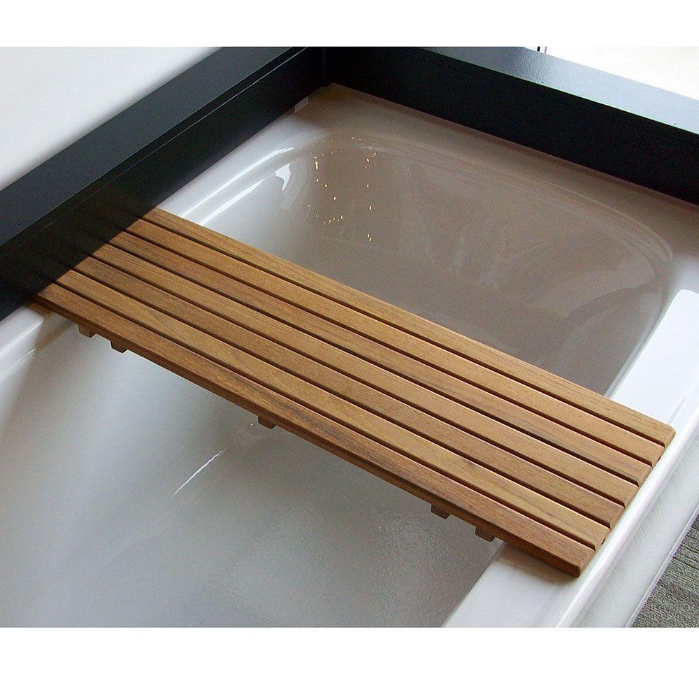 Teak Bathtub Bench