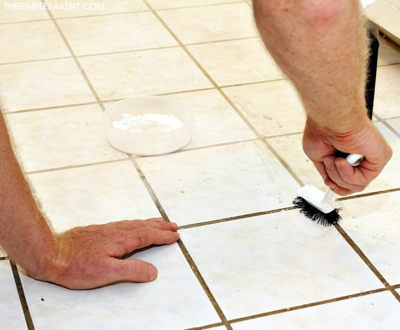 How To Clean Grout With Vinegar And Baking Soda Cleaning Grout On Tile Floors Or In The Shower Is Easy With Diy Grout Homemade Grout Cleaner Clean Tile Grout