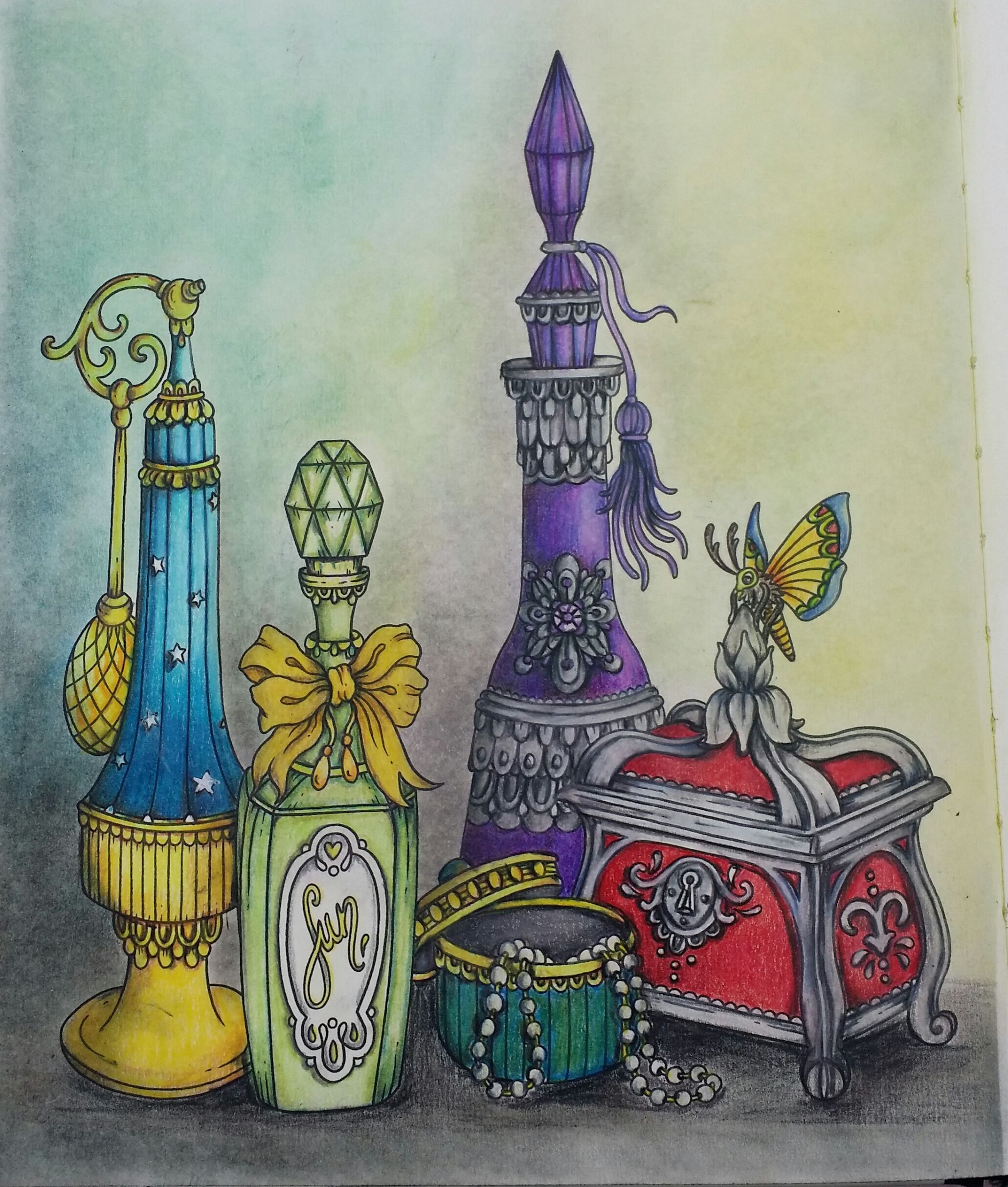 Hanna Karlzon Jewelry Box Juwelenkistje Coloring By Scrappymoments Ria Steampunk Coloring Colorful Drawings Coloring Books