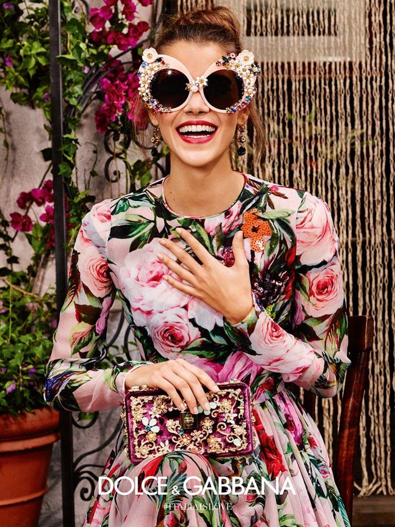412d11bd4230 Pauline Hoarau is all smiles in Dolce   Gabbana s spring 2016 eyewear  campaign