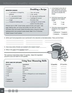 Kitchen Math Workbook   Math workbook, Consumer math, Math