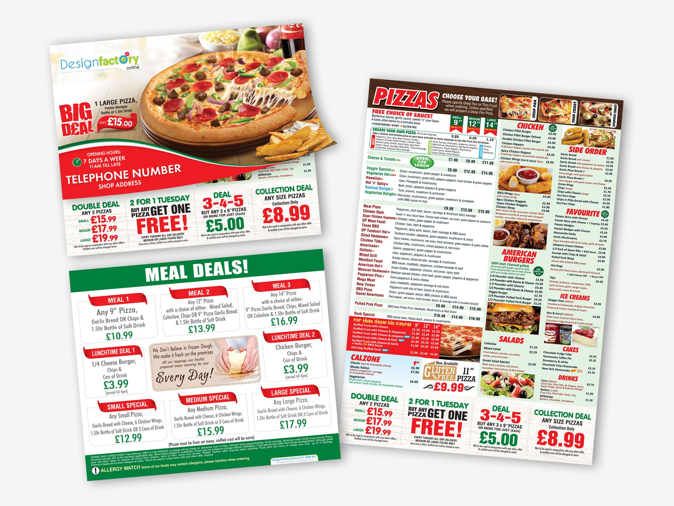 Direct Pizza Company Deanshanger Salad Cake Meal Deal
