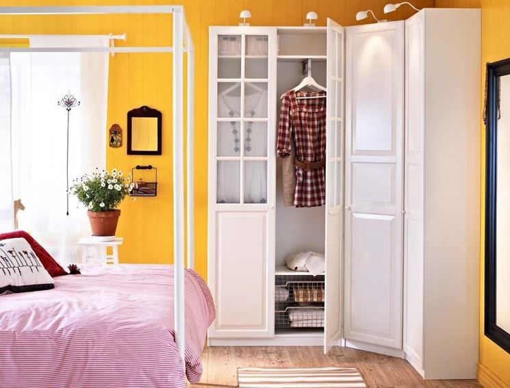 Armadio camera da letto Ikea | storage | Corner wardrobe, Closet ...