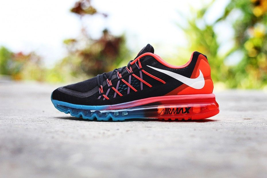 Nike Air Max 2015 Women Running Shoes Navy Red Ice Blue