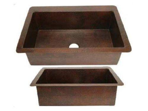 Single Bowl Copper Kitchen Sink Dark Brown Large 36 X22 X9 Amazon Com Copper Kitchen Sink Kitchen Sink Sink