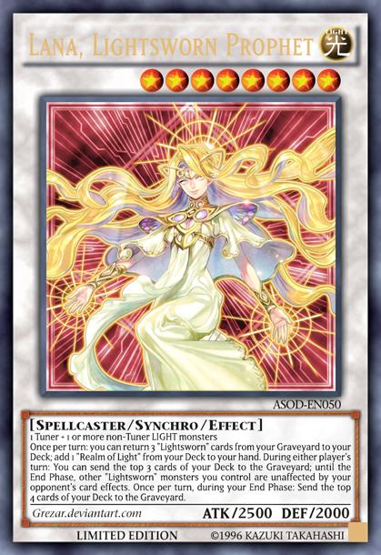 Lana Lightsworn Prophet By Grezar Custom Yugioh Cards Yugioh Cards Monster Cards