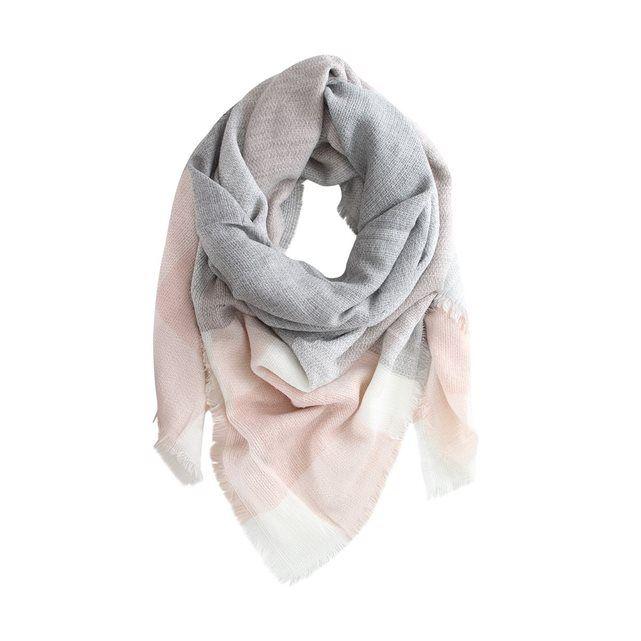 244bcc940095 La Redoute écharpe rose et gris existe aussi en jaune et noir   mode ...