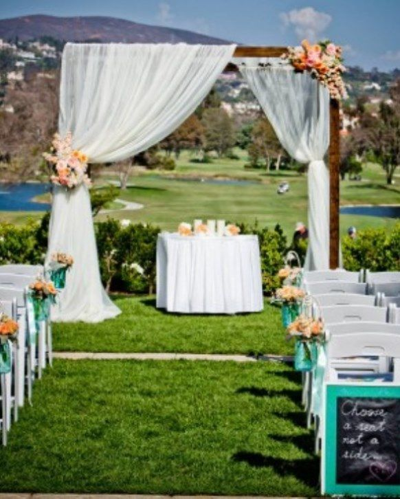 Outdoor ceremony in the summer - perfect <3 | Ceremony decor ...