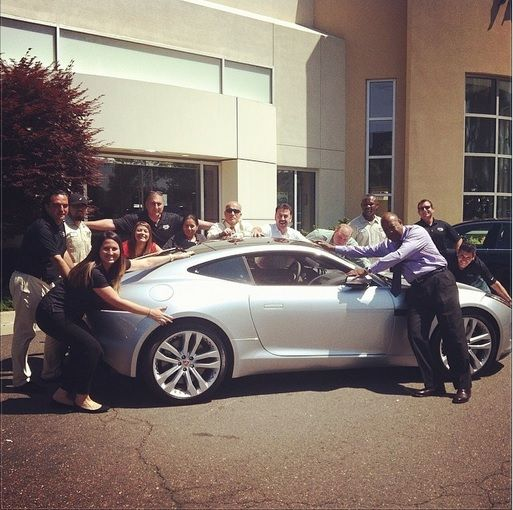 Good Showing Our #Jaguar Love All The Way From Rosenthal Jaguar Land Rover Of  Tysons! #HugYourJagDay