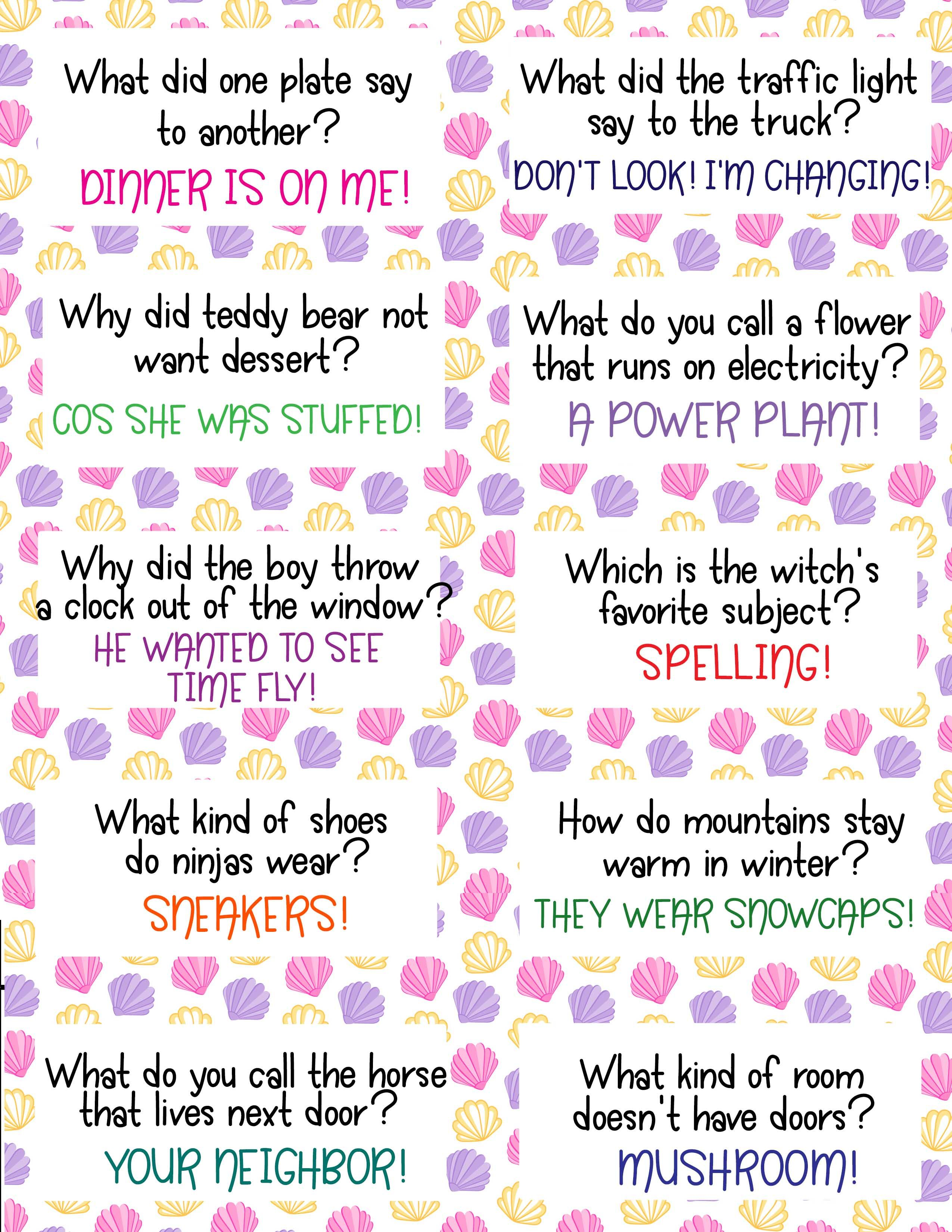 30 free printable funny lunch jokes for kids