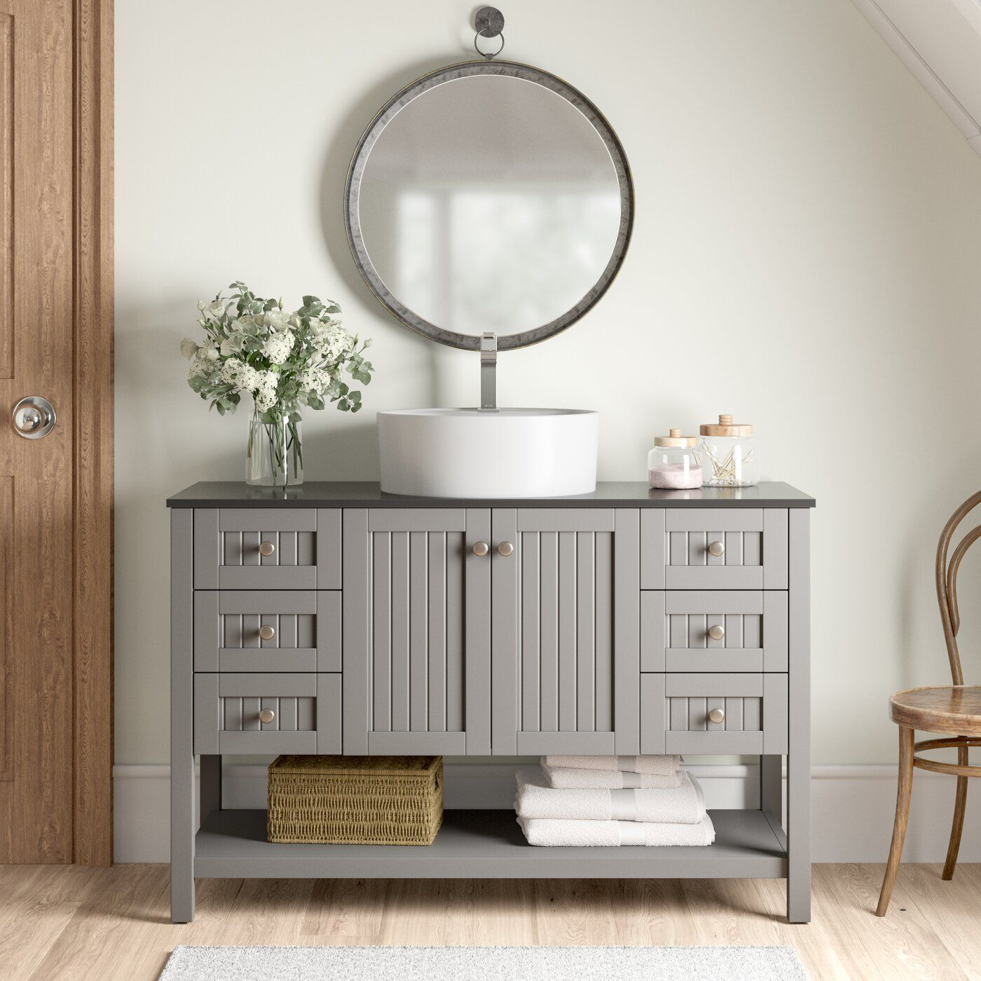 "Nadel 48"" Single Bathroom Vanity Set Single bathroom"