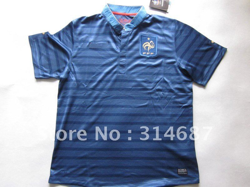 Wholesale TOP Thailand Quality 12-13 France home blue soccer jersey,Soccer Shirts,embroidered logo,Dry-Fit on AliExpress.com. $95.00