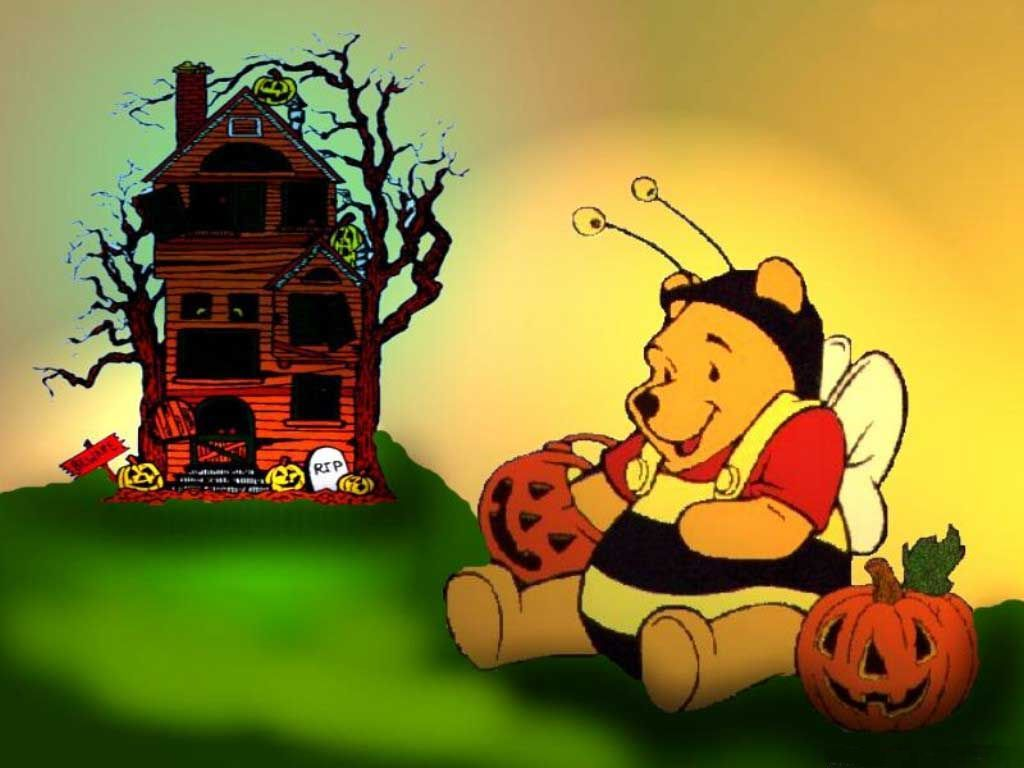 High Quality Cool Halloween Wallpapers | Funny Pooh Halloween Wallpaper Funny Smiling  Pumpkins Wallpaper Funny .