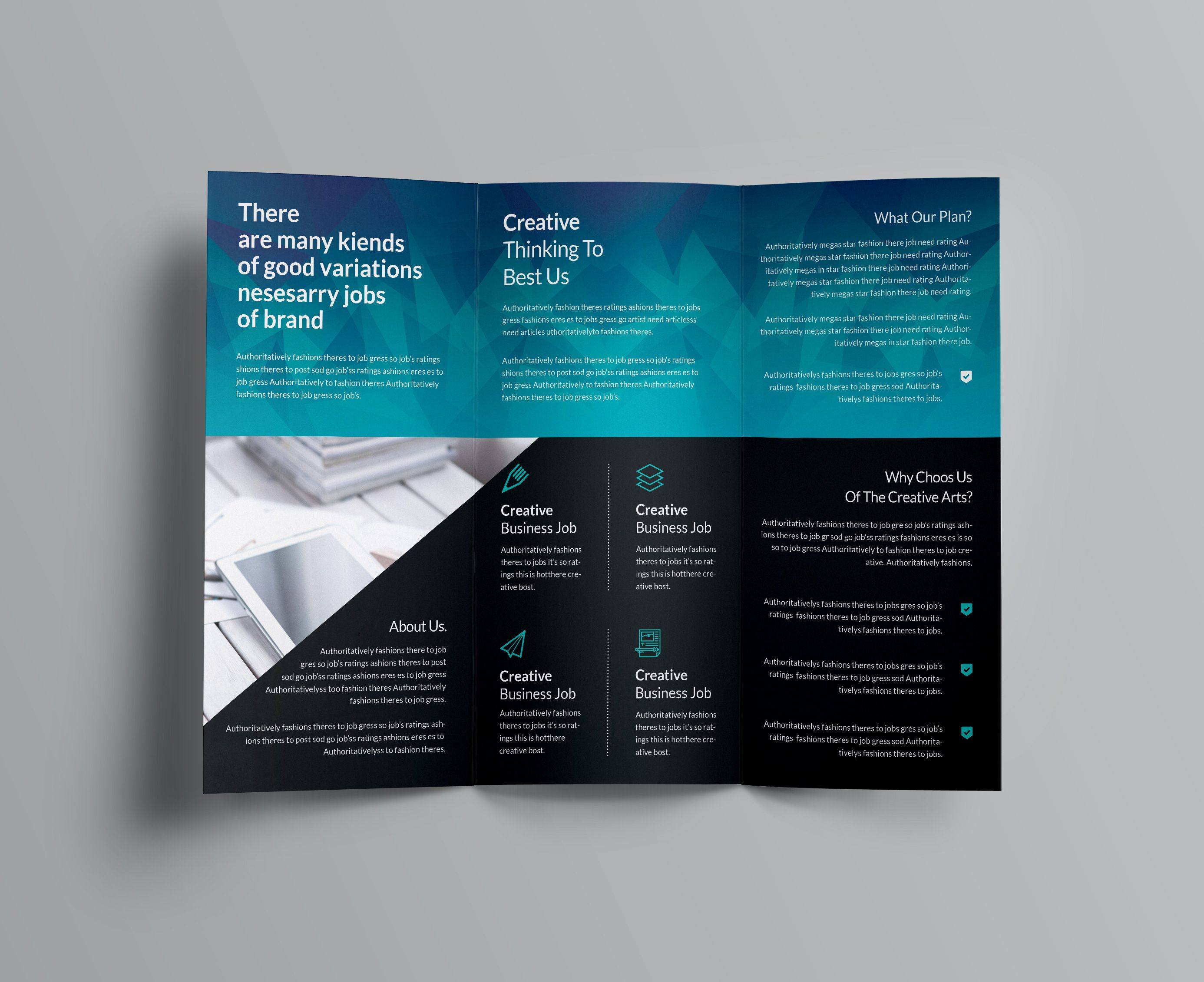 Ocean Corporate Tri Fold Brochure Templates Brochure Template