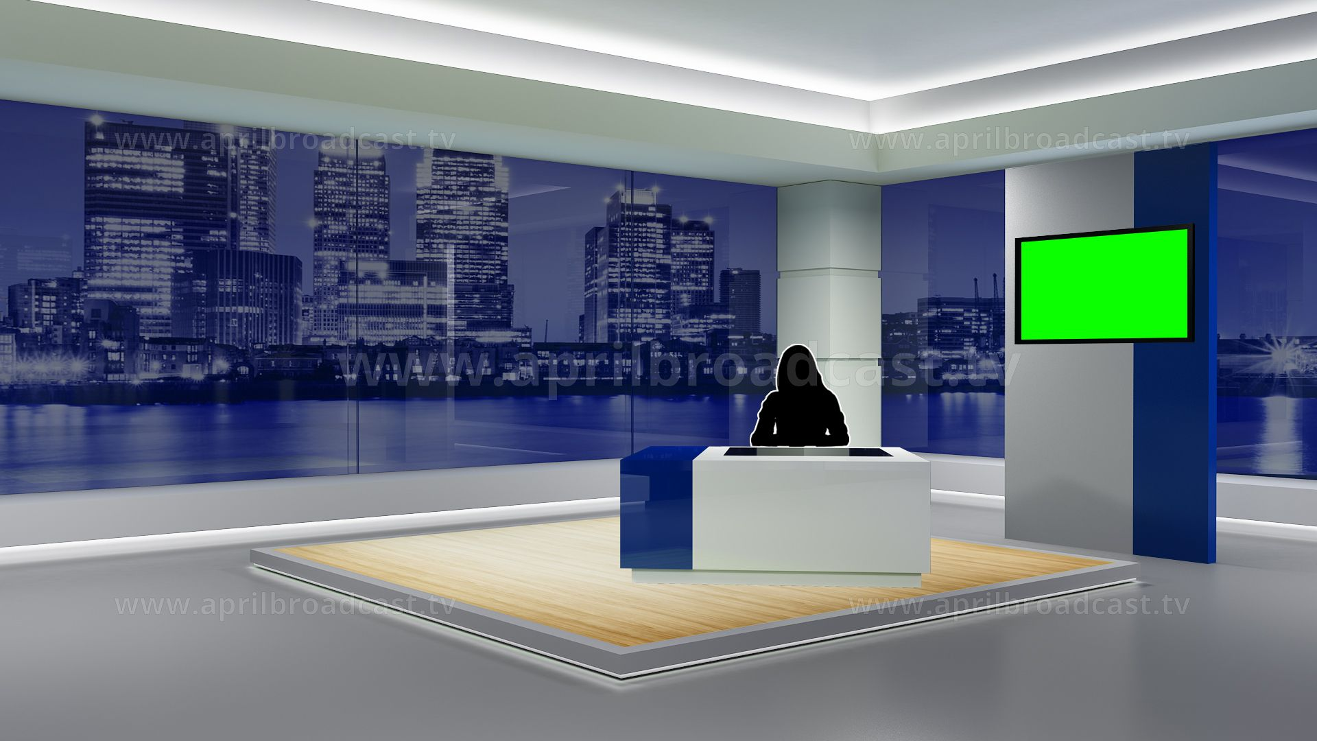 2d 3d Green Screen Background Best Suited For A Variety News Based Show Green Screen Backgrounds Greenscreen Flat Screen