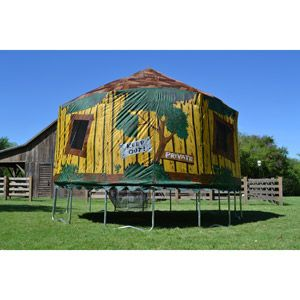 JumpPod 15 ft Round Tr&oline w/enclosure and detachable tree house tent  sc 1 st  Pinterest & JumpPod 15 ft Round Trampoline w/enclosure and detachable tree ...