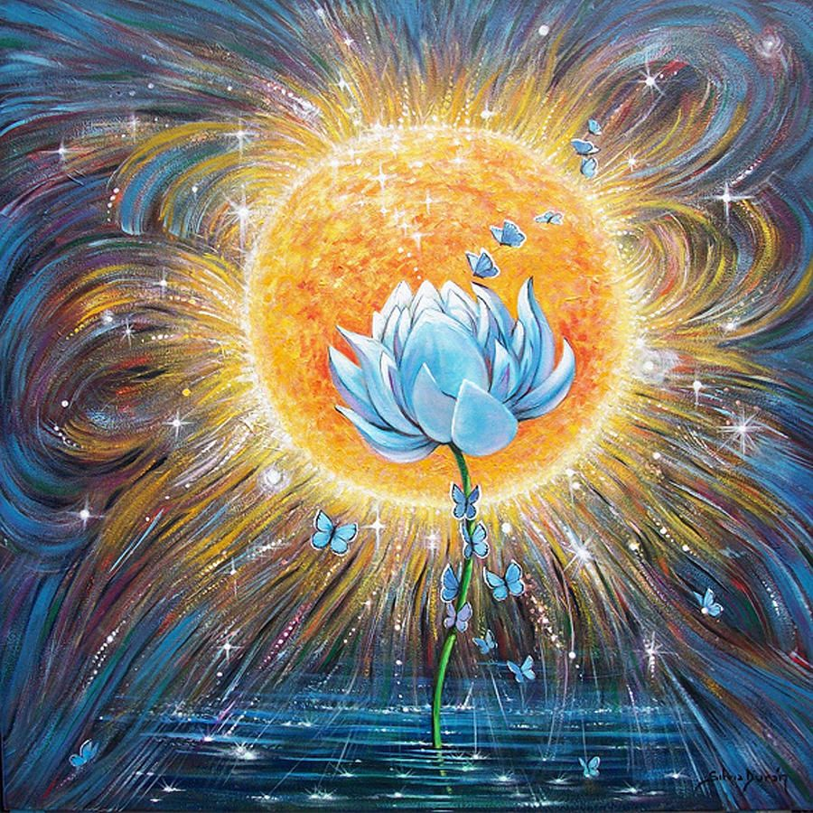 Blue Lotus By Sylviaduran Symbolic Image Of Legend The First Sun