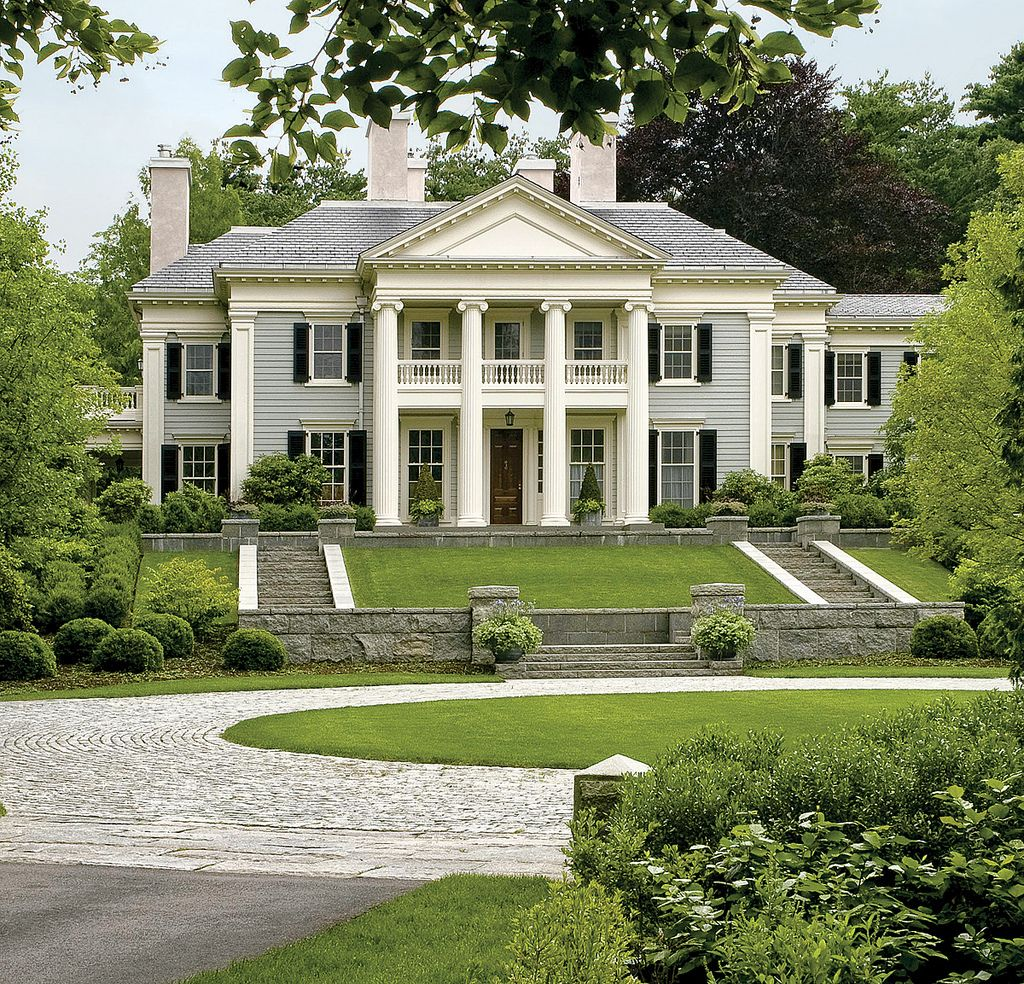 This neo classical mansion is amazing with its greco roman for Antebellum homes