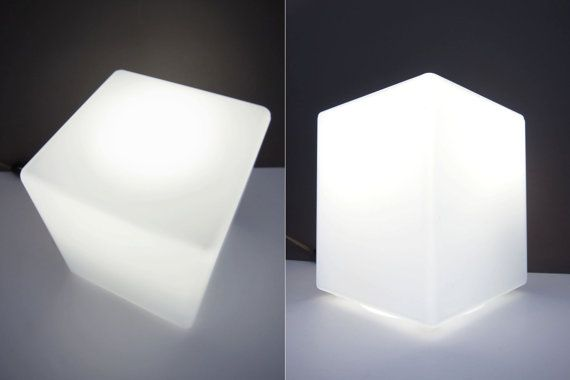 Laurel Cube Lamp Frosted Glass Midcentury By Objectofbeauty Cube Lamps Glass Cube Frosted Glass