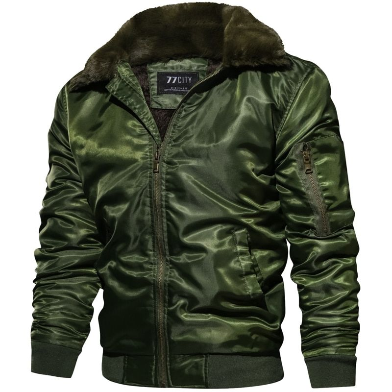Winter Air Force Pilot Warm Fur Collar Army Tactical Mens Jacket and Coats