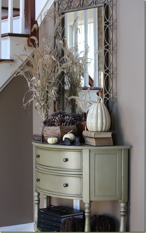 Thanksgiving Foyer Decor : Another spot for giving thanks thanksgiving foyers and
