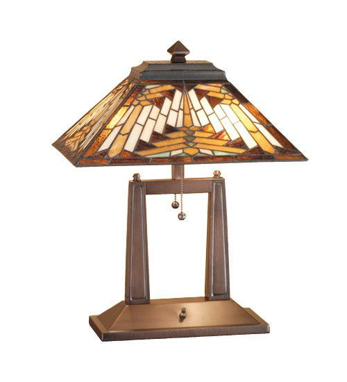 "20""H Nuevo Tiffany Mission Oblong Desk Lamp"