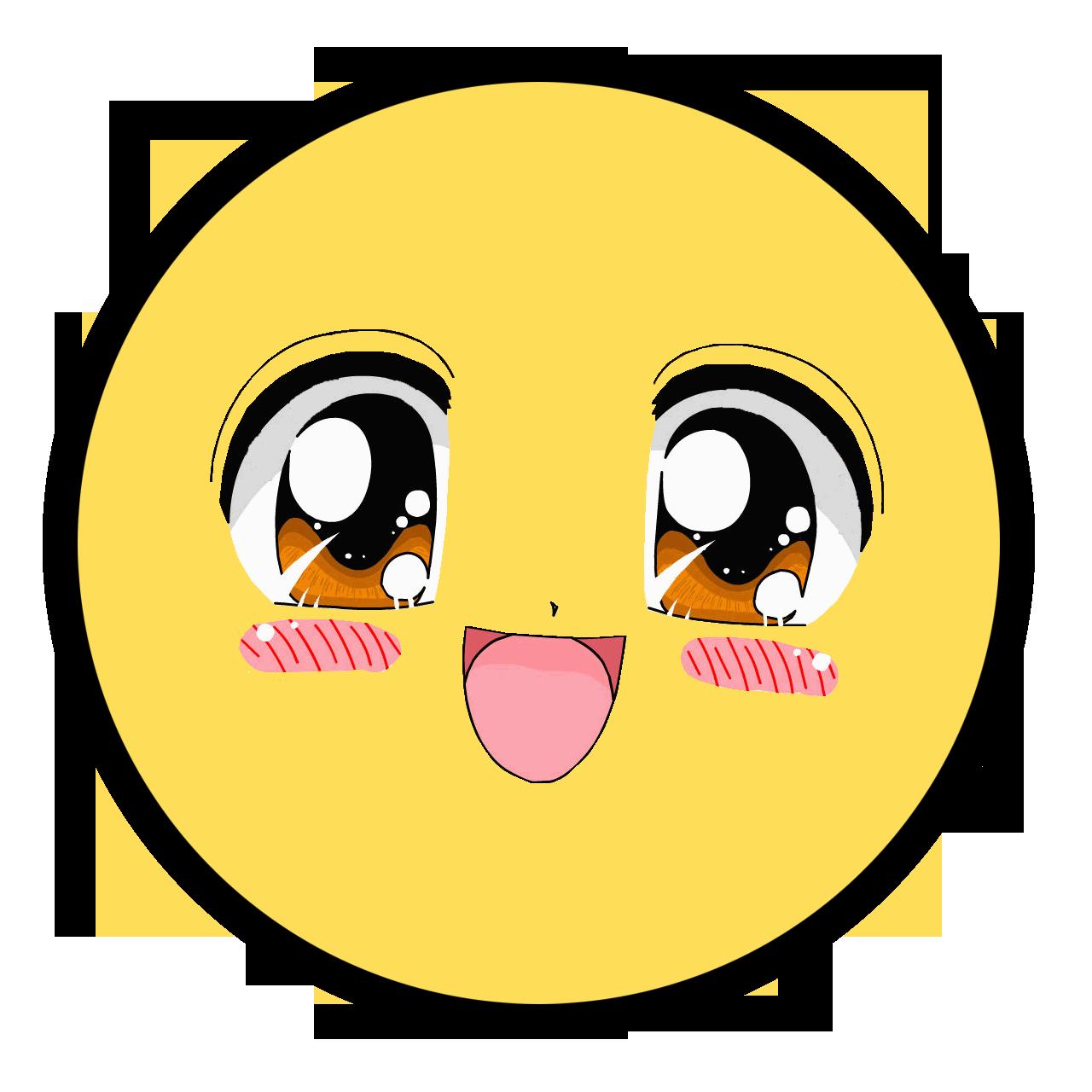 anime face Smiley, Smiley face, Happy face
