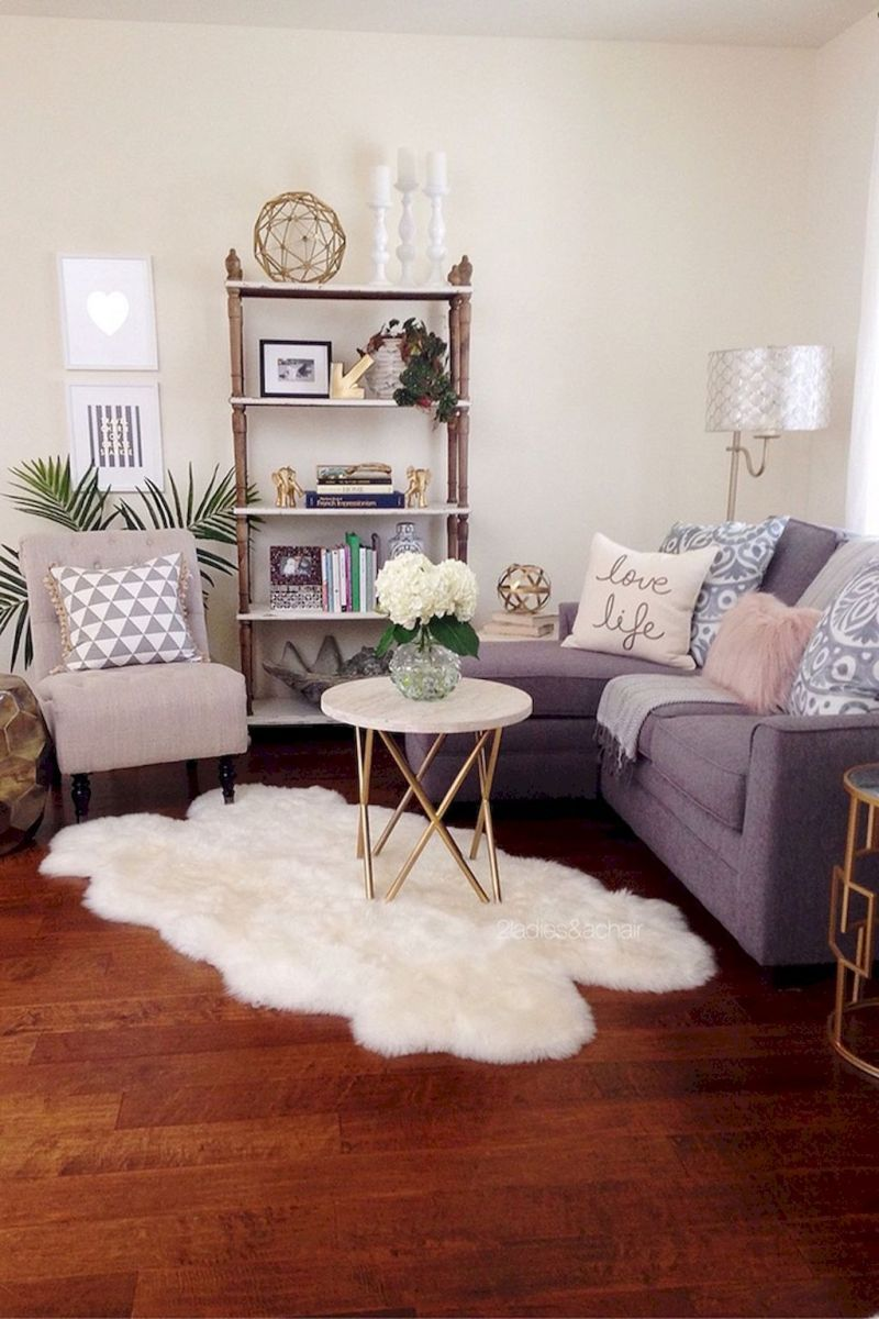 Cute College Apartment Decoration Ideas 68 Small Living Room
