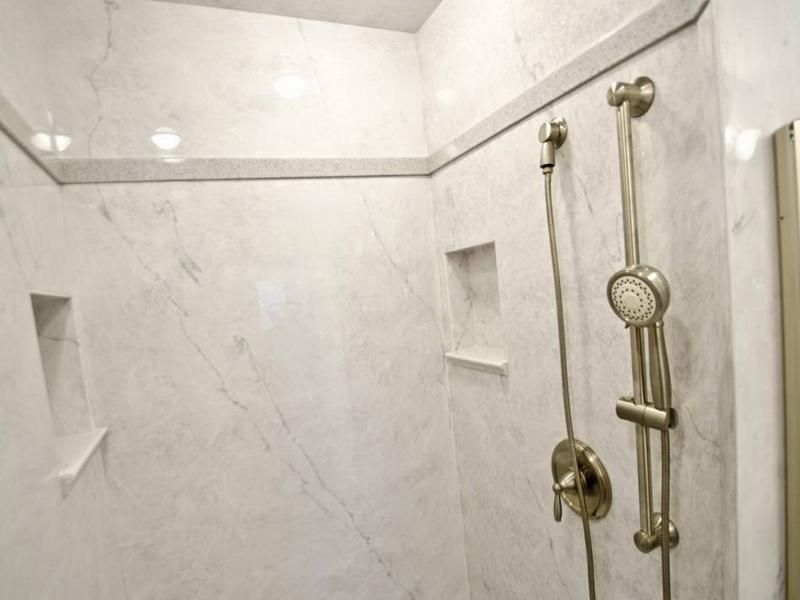 Realistic Cultured Marble Shower With Cubbys For The