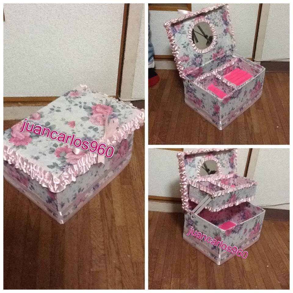Manualidades alhajero por paola sofia 2 decorative for Cajas de carton decoradas