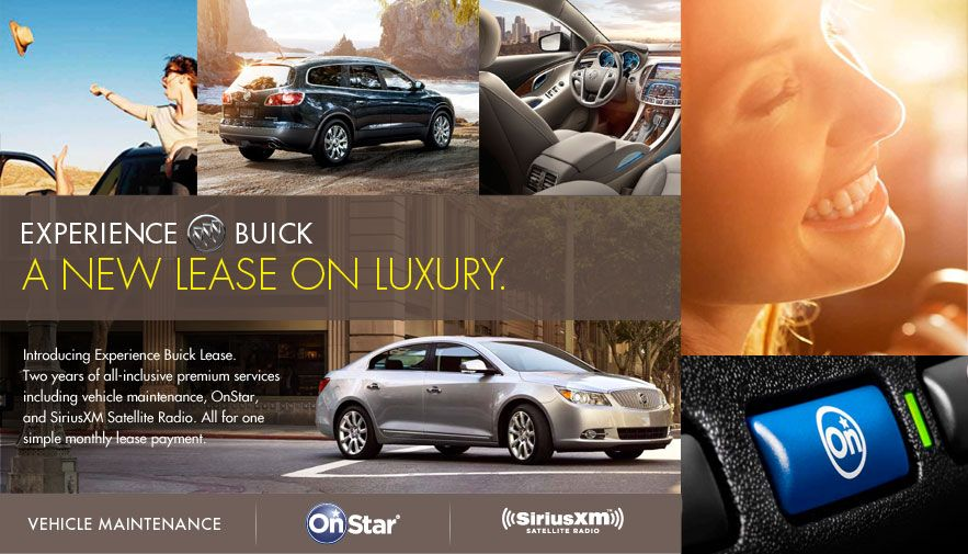 Experience Buick Lease Program Includes Maintenance Onstar And