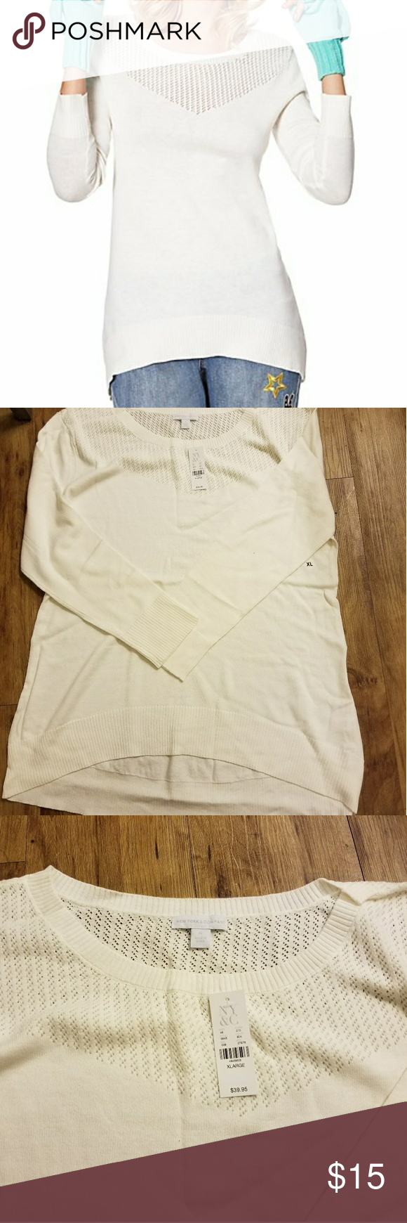 New New York and Company Sweater NWT | White sweaters, Customer ...