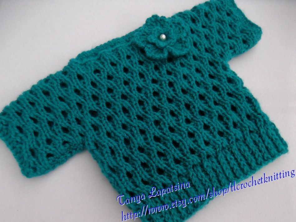 Teal Boatneck Lace Pullover. 12-18M.. $30.00, via Etsy.