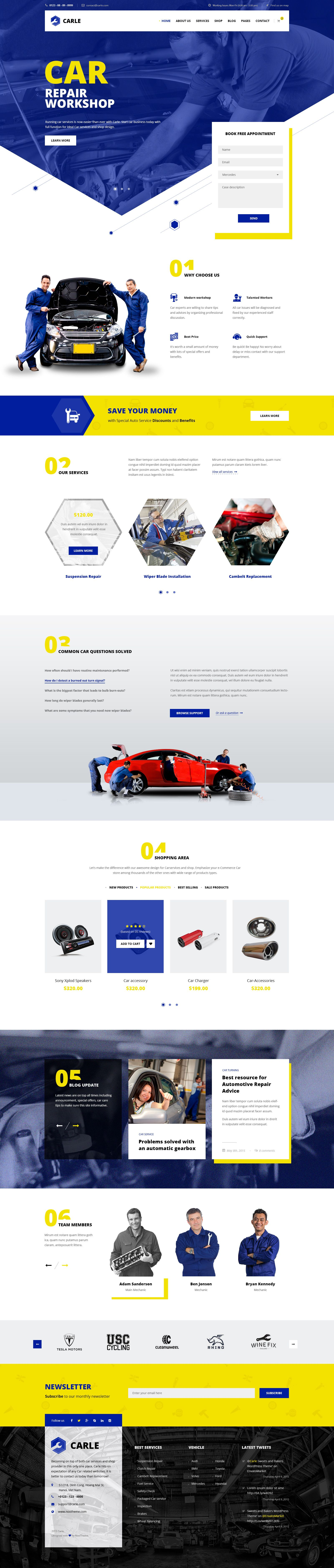 Carle - Car Service and Shop PSD Template - PSD Templates | ThemeForest