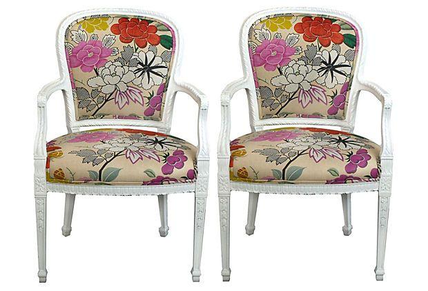 Manuel Canovas Chairs, Pair on OneKingsLane.com