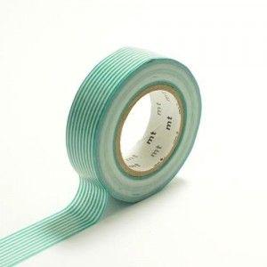 Japanese Washi Masking Tape Stripe Border Turquoise Green.  Get it here: http://washikawaii.com/shop/d078-japanese-washi-masking-tape-stripe-border-turquoise-green/