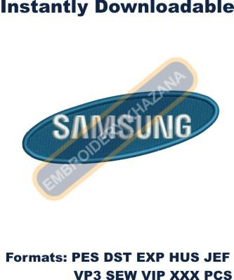 Samsung Logo Embroidery Design In 2020 Embroidery Logo Sewing Embroidery Designs Samsung Logo