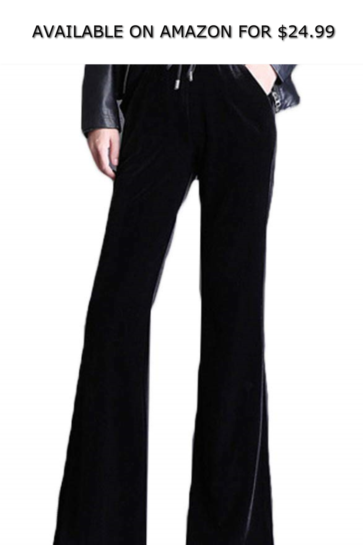 24 99 Avacostume Women S Drawstring Bootcut Palazzo Velvet Wide Leg Pants Chino Pants Women Women Pants Casual Cargo Pants Women [ 3000 x 2000 Pixel ]
