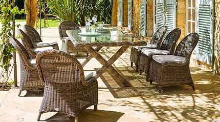 Chaise de jardin en résine tressée Bétong | Table de jardin ...