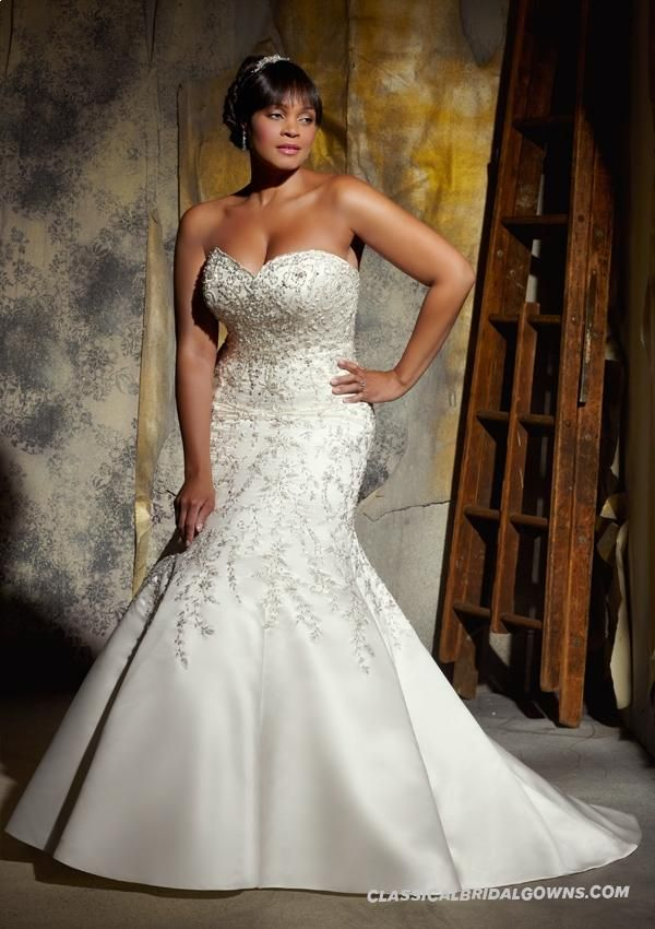 Get Beautiful Mori Lee Julietta 3140 Plus Size Wedding Dress Plus