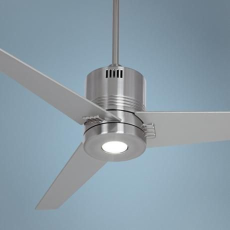 44 casa metro led brushed nickel ceiling fan ceiling fan 44 casa metro led brushed nickel ceiling fan y7858 lampsplus aloadofball Image collections