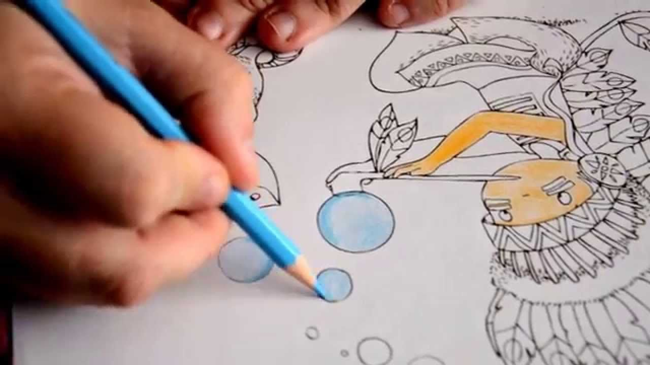 Comment Faire Un Coloriage Anti Stress.Colorier Sans Faire De Traces Blablatage Coloriage