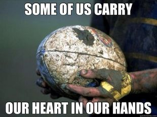 Rugby In Our Hearts Rugby Memes Rugby Motivation Rugby Ball