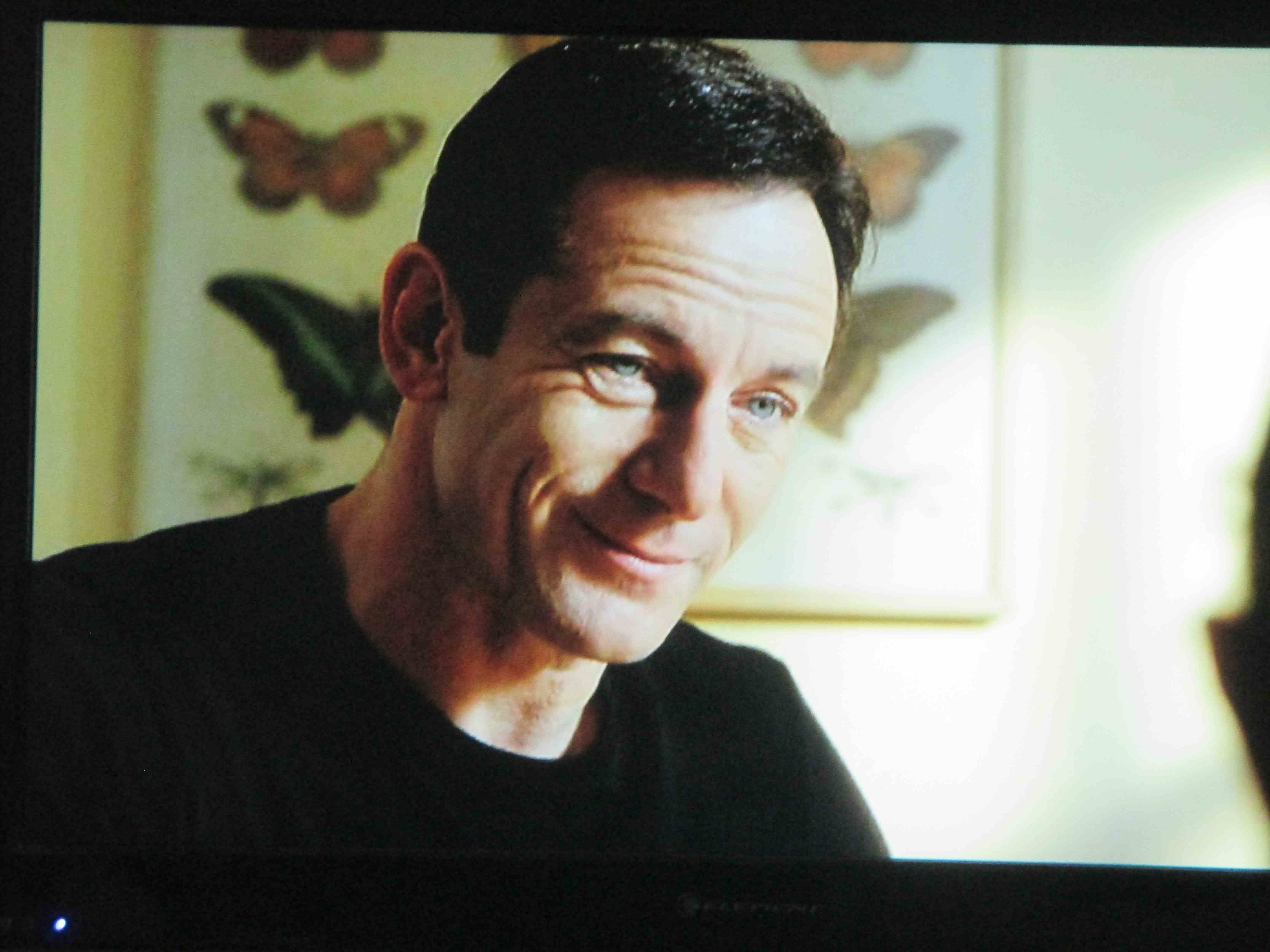 And, Jason Isaacs, not too much, not too little but just right hair.