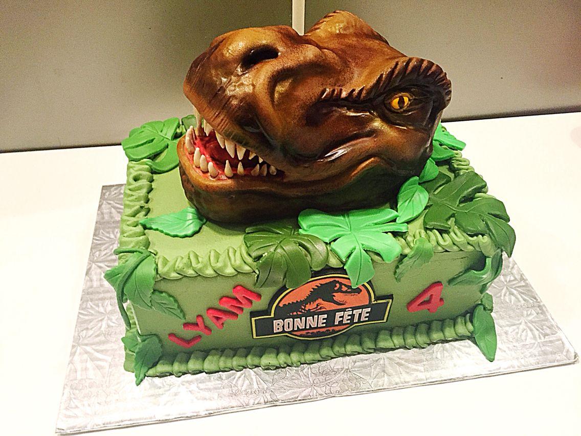 Jurassic World Cake T Rex Cake Dinosaur Cake T Rex Cake