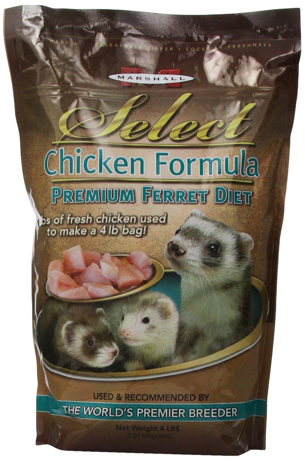 Marshall Pet Marshall Select Chicken Ferret Diet 4Pound