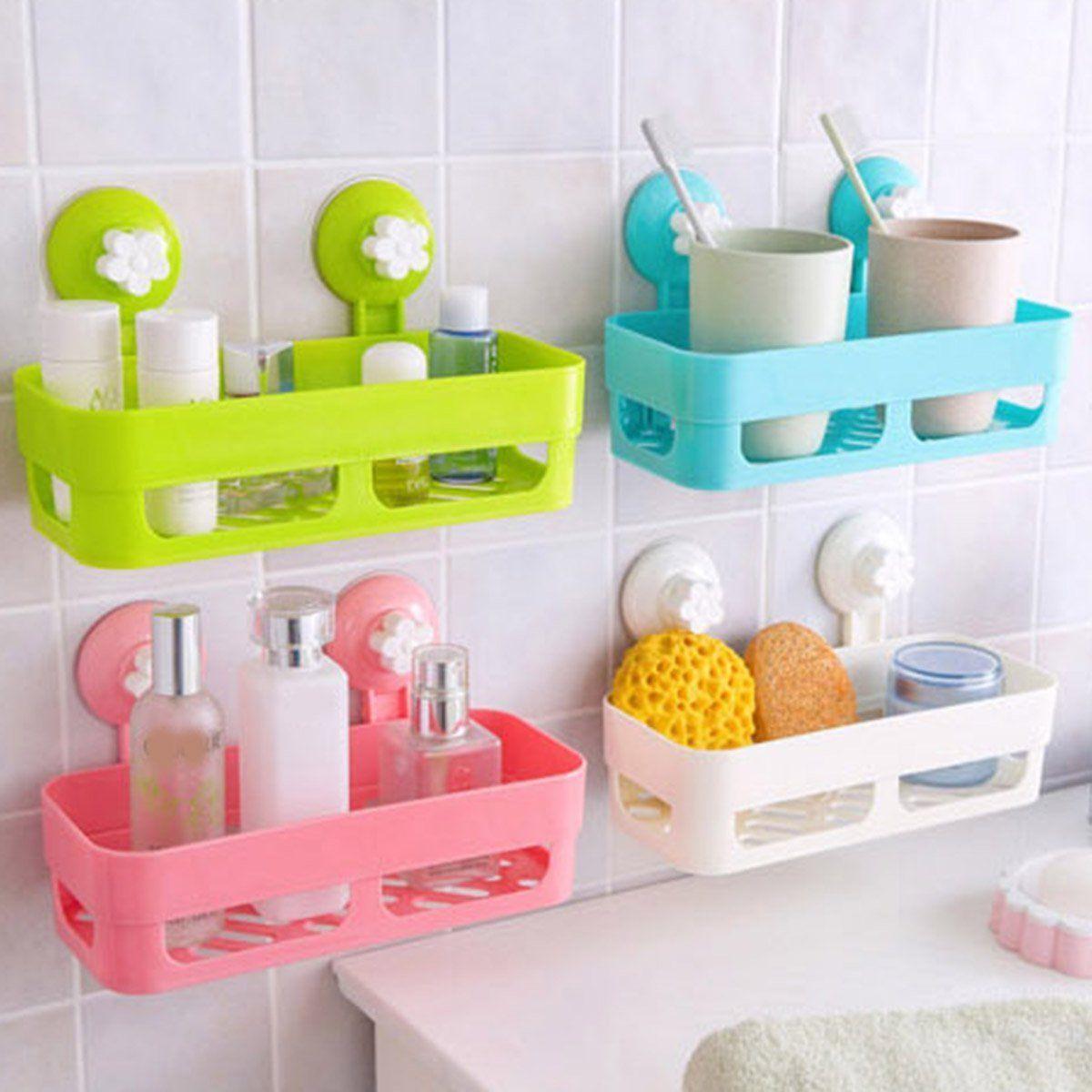 Kitchen Bathroom Storage Holder Shelf Shower Caddy Organizer Basket ...