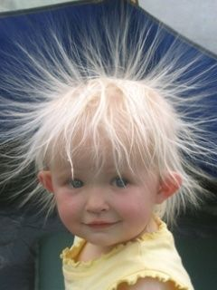 Funny Hair Static Getting The Best Of This Little Tyke
