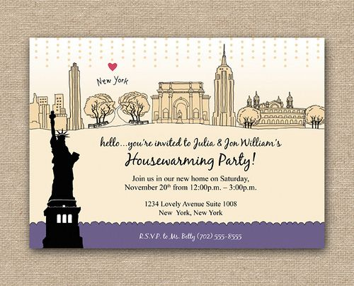 New York Themed Invite
